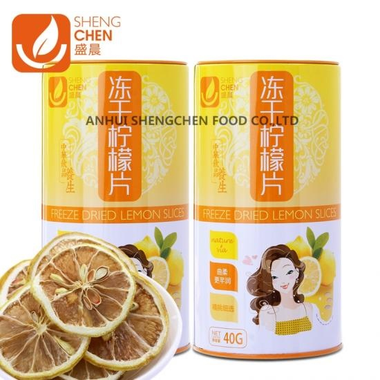 Freeze Dried Lemon slice tea in Tin